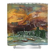 Seascape Impression In Spain 02 Shower Curtain
