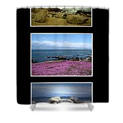 Seascape Triptych Shower Curtain