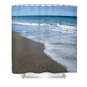 Seascape Wrightsville Beach Nc  Shower Curtain by Joan Meyland