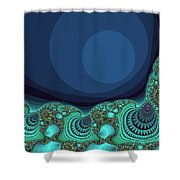 Seashells By The Sea Fractal Shower Curtain