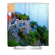 Seaside Villa Amalfi Shower Curtain