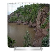 Seastacks At Hopewell Rocks Shower Curtain