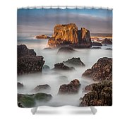 Seastacks In The Mists Shower Curtain
