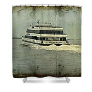 Seastreak Catamaran - Ferry From Atlantic Highlands To Nyc Shower Curtain