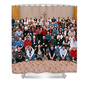 Seattle Archdiocese 2008 Priests. Shower Curtain