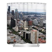Seattle From The Needle Shower Curtain
