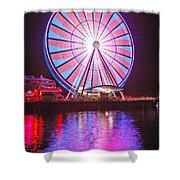 Seattle Great Wheel 2 Shower Curtain