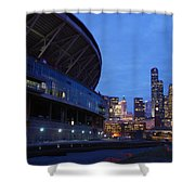 Seattle Sky At Dusk Shower Curtain