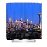 Seattle Skyline 3 Shower Curtain