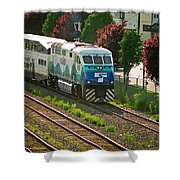 Seattle Sounder Train Shower Curtain