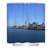 Seattle Waterway Cityscape Shower Curtain