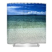 Secluded White Sands Beach Shower Curtain