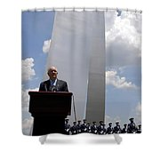 Secretary Of The Air Force Salutes Shower Curtain by Stocktrek Images