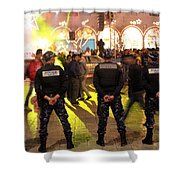 Security And Lights Shower Curtain