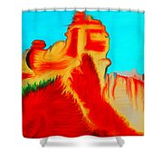 Sedona Hills - Fire At Sunset - Arizona Shower Curtain