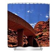 Sedona Man Vs Rock Contrast Shower Curtain