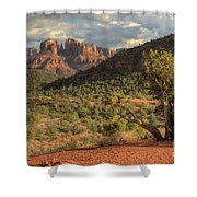 Sedona Red Rock Viewpoint Shower Curtain