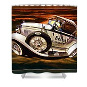 See's Car Shower Curtain