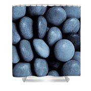 Selenium Abstract Shower Curtain