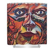Self Portrait - Map Of Life Shower Curtain