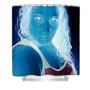 Self Portrait Front And Center Shower Curtain
