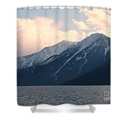 Selkirk Mountains Shower Curtain