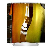 Semiformal Tee Shirt And Tie Shower Curtain