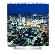 Sendai Train Station By Night Shower Curtain