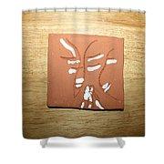 Sentiment 2 - Tile Shower Curtain