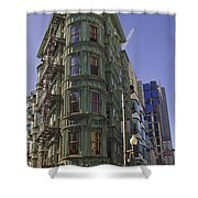 Sentinel Building - Columbus Tower American Zoetrope Shower Curtain by Tim Mulina