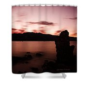 Sentinel Of Mono Lake Shower Curtain