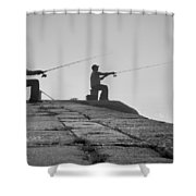 Sentinels - Fishing In The Fog Shower Curtain