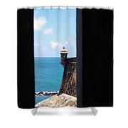Sentry Tower View Castillo San Felipe Del Morro San Juan Puerto Rico Shower Curtain