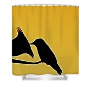 Sepia Silhouette Shower Curtain