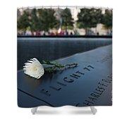 September 11 Memorial Flower Shower Curtain