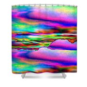 September Sunrise Abstract Shower Curtain