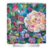 Serendipity Floral Shower Curtain