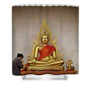 Serene Buddha Shower Curtain