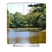 Serene Lake In September Shower Curtain