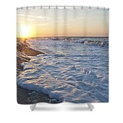 Serene Sunrise Shower Curtain