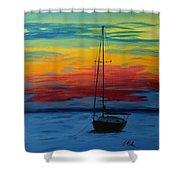 Serene Sunset Shower Curtain