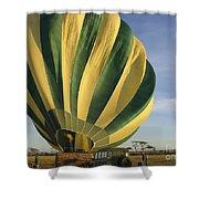 Serengeti Hot Air Baloon Inflating Shower Curtain