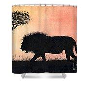 Serengeti Sunset Shower Curtain