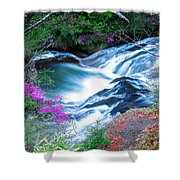 Serenity Flowing Shower Curtain