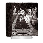 Serenity In Sepia Shower Curtain
