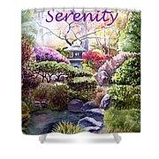 Serenity Shower Curtain by Irina Sztukowski