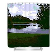 Serenity Lake 4 Shower Curtain