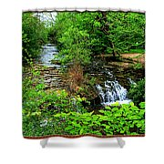 Serenity With Frame Shower Curtain