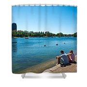 Serpentine Hyde Park Shower Curtain
