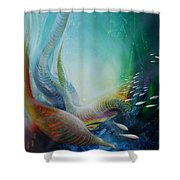 Serpula Spiralis Shower Curtain